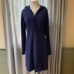 Athleta long sleeve hooded dress. Navy. Size Small